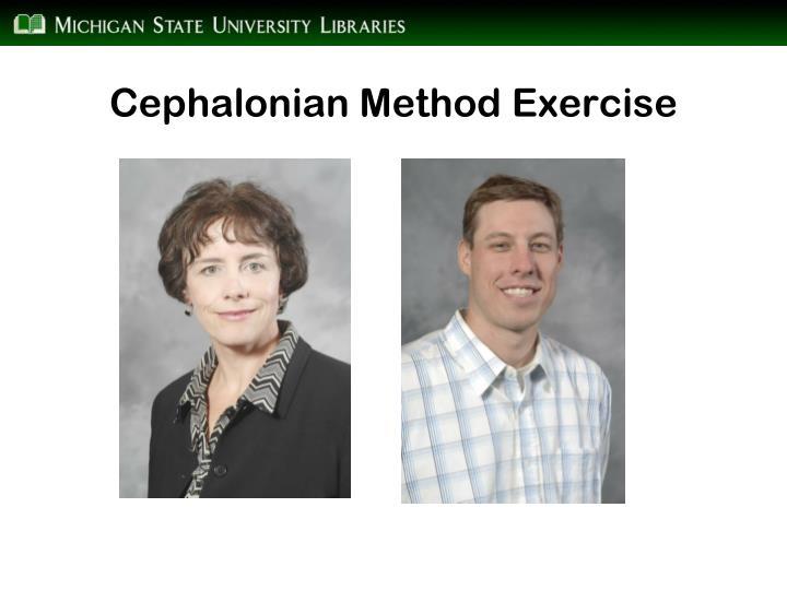 Cephalonian Method Exercise