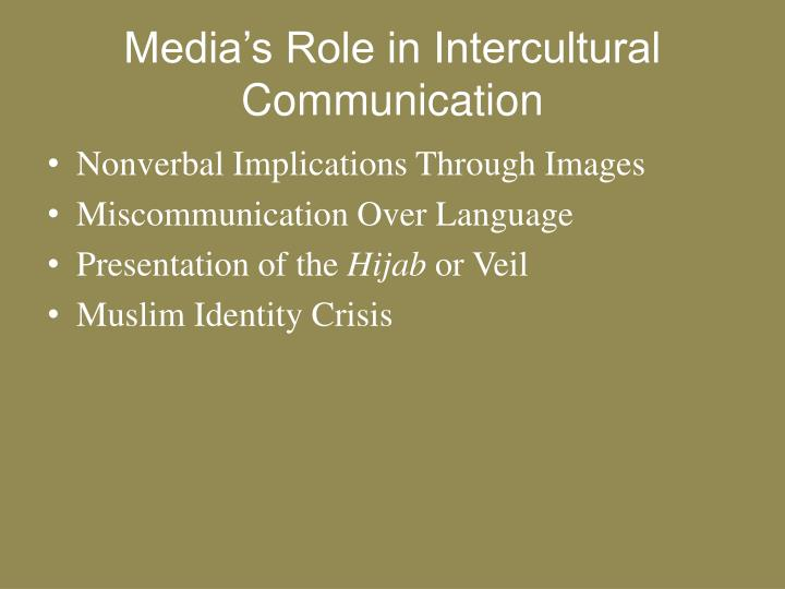 Media's Role in Intercultural Communication
