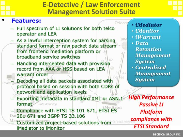 E-Detective / Law Enforcement