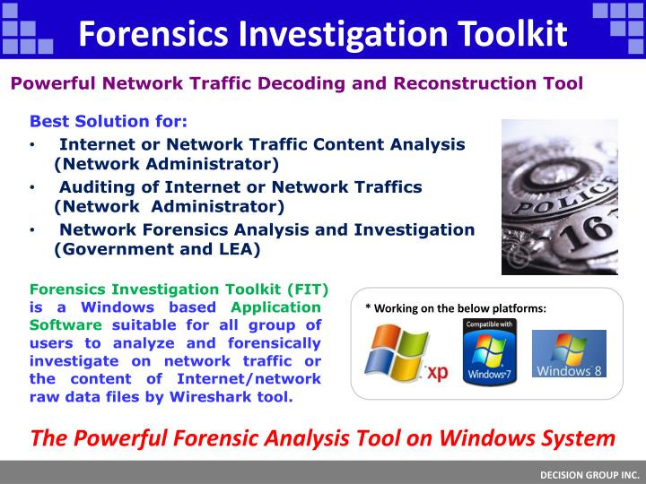 Forensics Investigation Toolkit