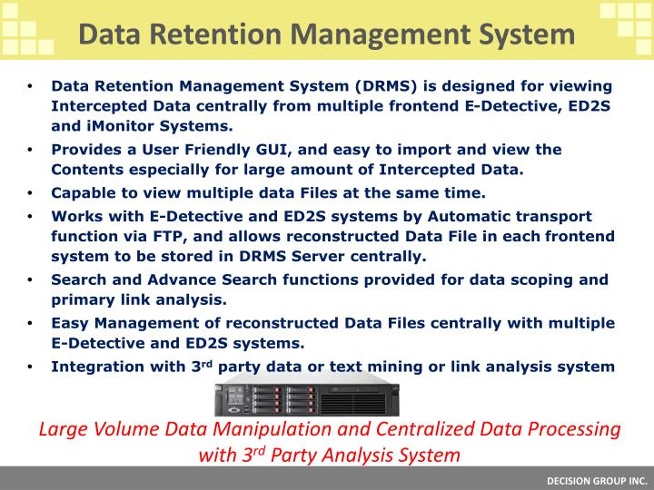 Data Retention Management System