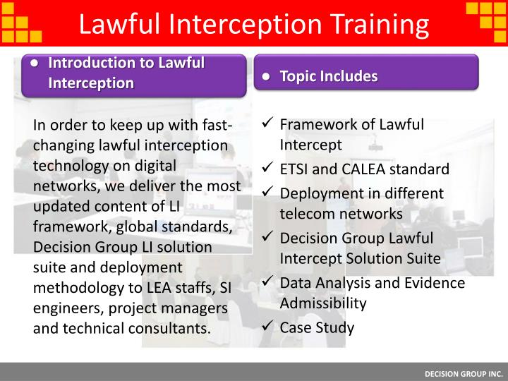 Lawful Interception Training