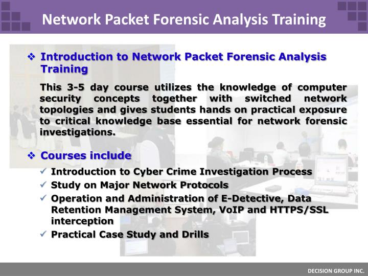 Network Packet Forensic Analysis Training