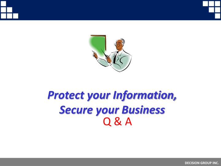 Protect your Information,