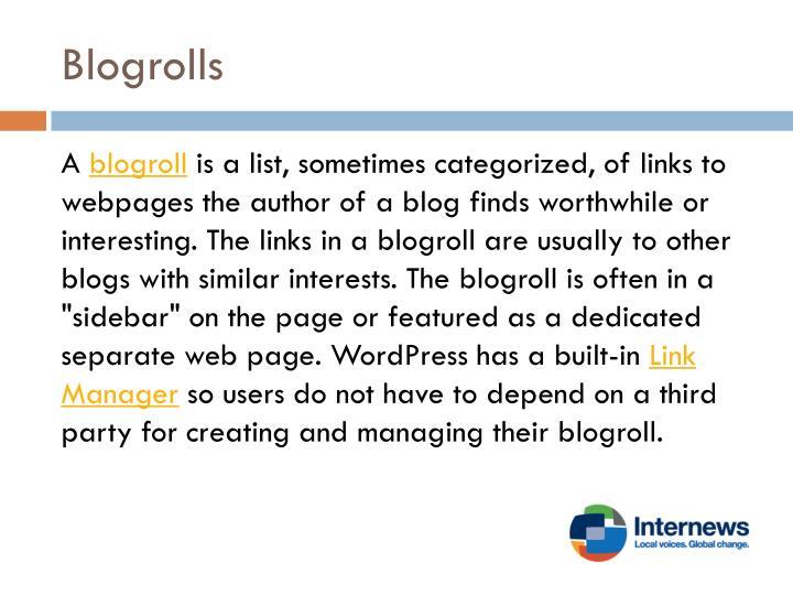 Blogrolls