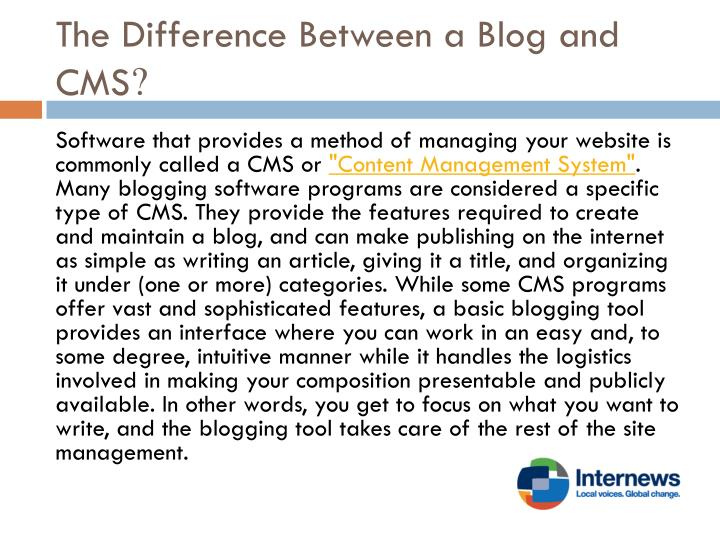 The Difference Between a Blog and