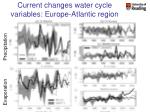 current changes water cycle variables europe atlantic region1