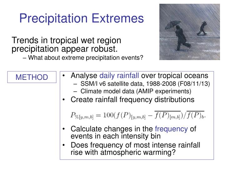 Precipitation Extremes