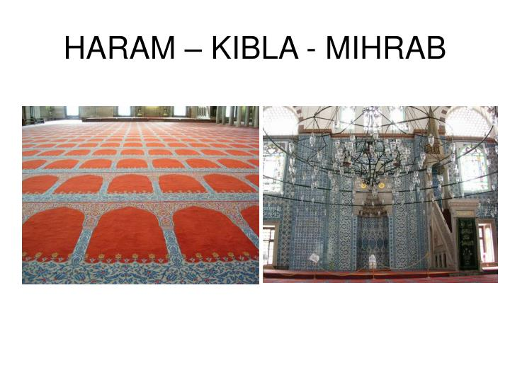 HARAM – KIBLA - MIHRAB