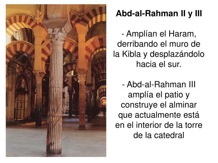 Abd-al-Rahman II y III
