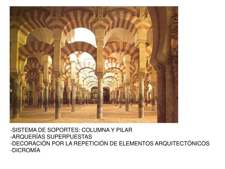 SISTEMA DE SOPORTES: COLUMNA Y PILAR