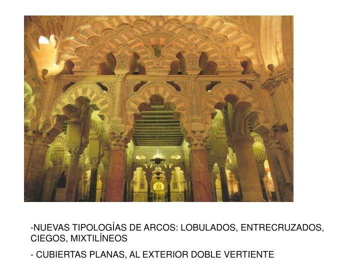 -NUEVAS TIPOLOGÍAS DE ARCOS: LOBULADOS, ENTRECRUZADOS, CIEGOS, MIXTILÍNEOS