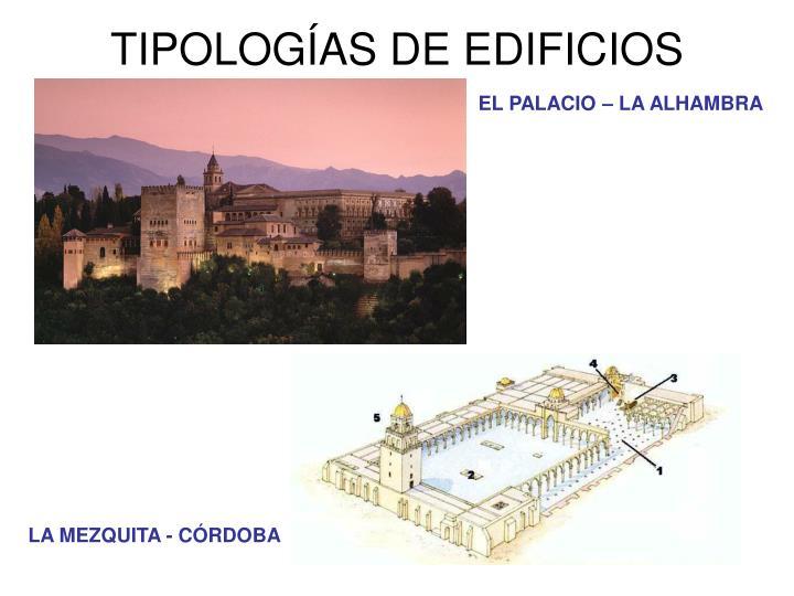 TIPOLOGÍAS DE EDIFICIOS