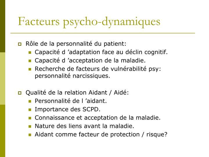 Facteurs psycho-dynamiques