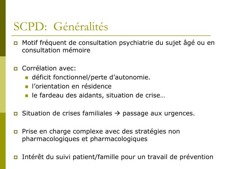 SCPD:  Généralités