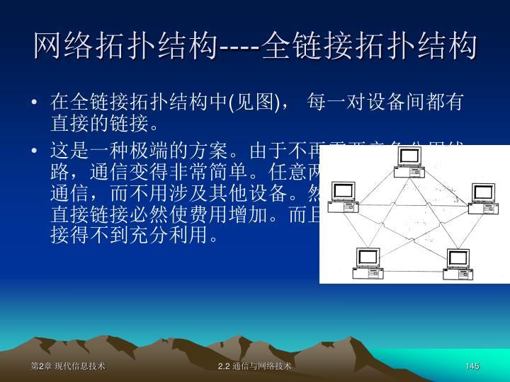 网络拓扑结构
