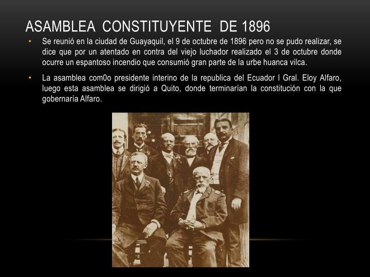 ASAMBLEA  CONSTITUYENTE  DE 1896