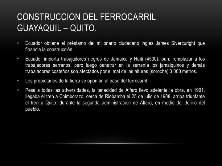 CONSTRUCCION DEL FERROCARRIL