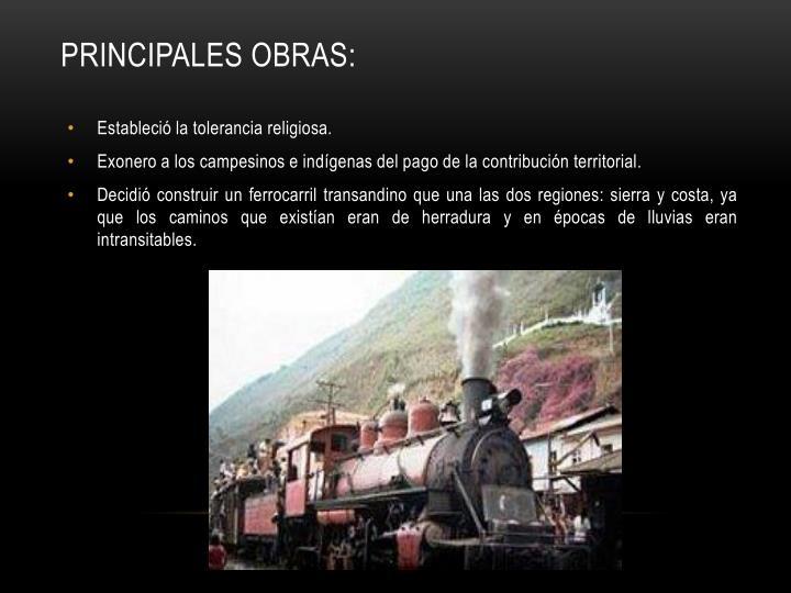 PRINCIPALES OBRAS: