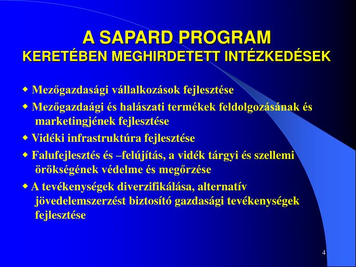 A SAPARD PROGRAM