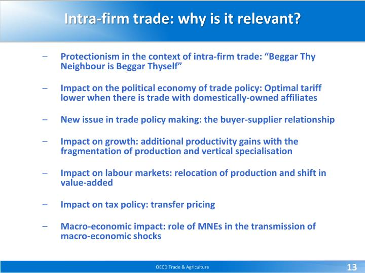 Intra-firm trade: why is it relevant?