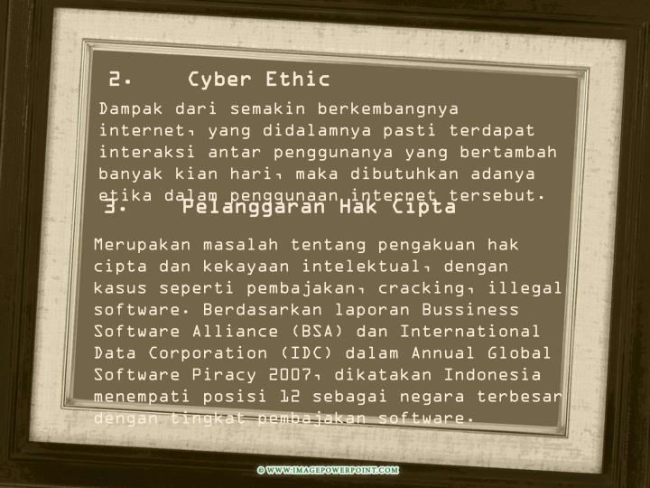 2. Cyber Ethic