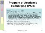 p rogram of academic recharging par
