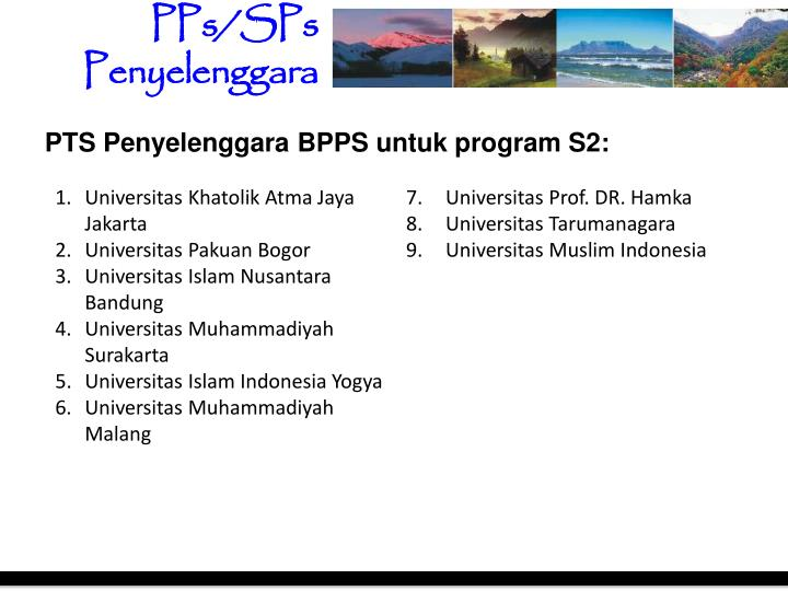 PPs/SPs