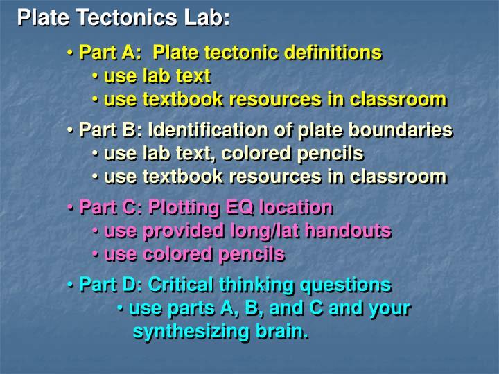 Plate Tectonics Lab: