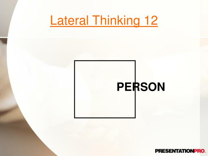 Lateral Thinking 12