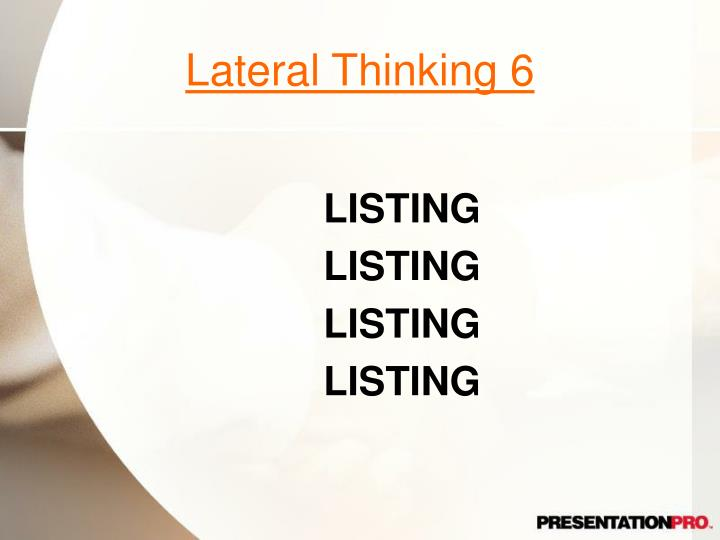 Lateral Thinking 6