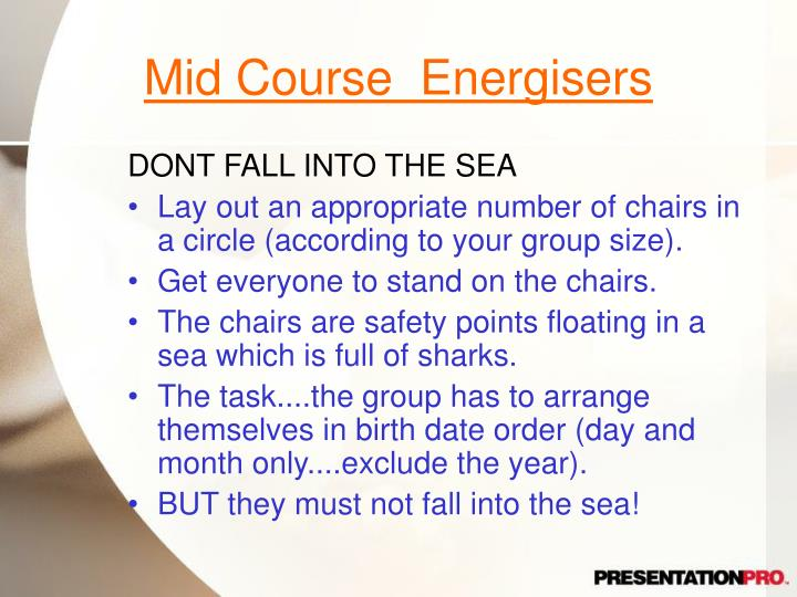 Mid Course  Energisers