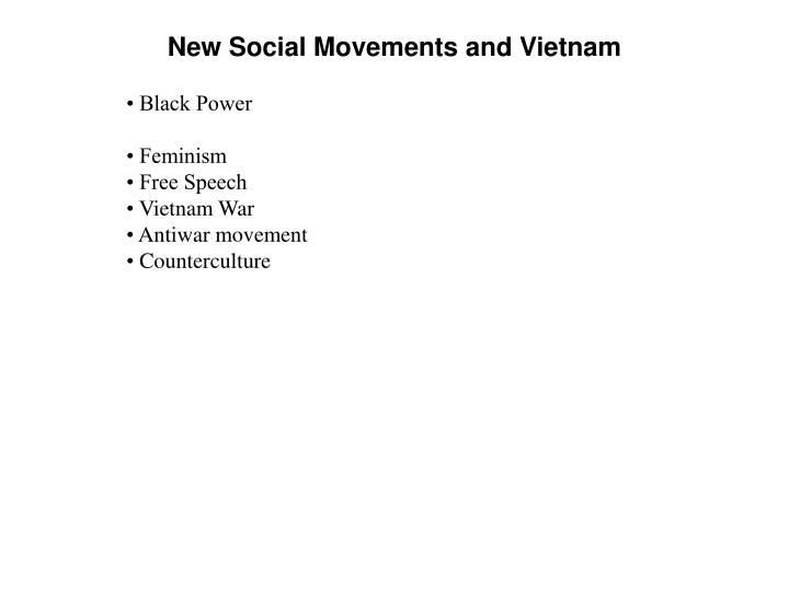 New social movements and vietnam