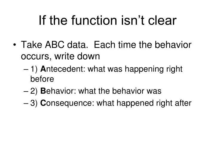If the function isn't clear