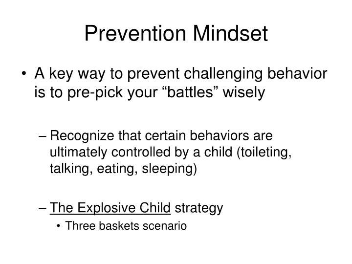 Prevention Mindset