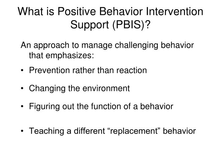 What is positive behavior intervention support pbis