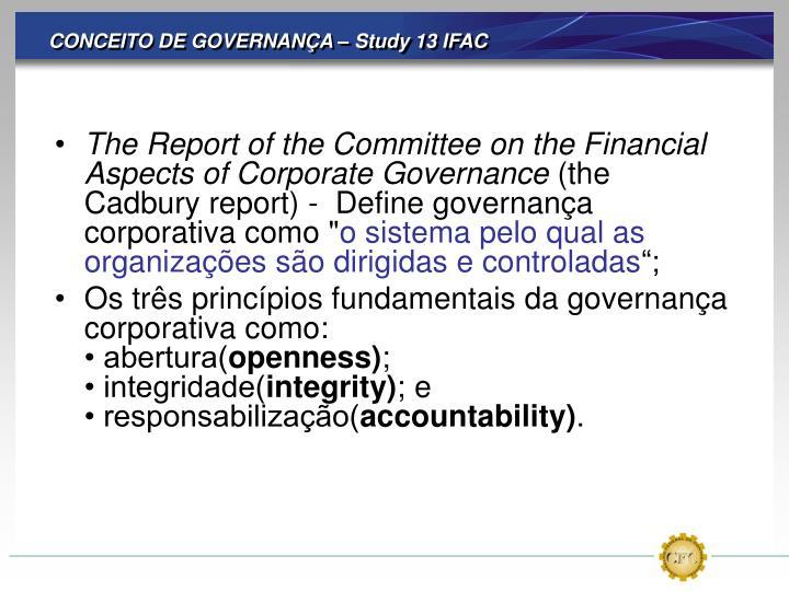 CONCEITO DE GOVERNANÇA – Study 13 IFAC