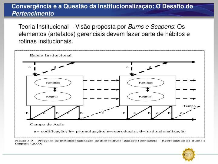 Convergência e a Questão da Institucionalização: O Desafio do