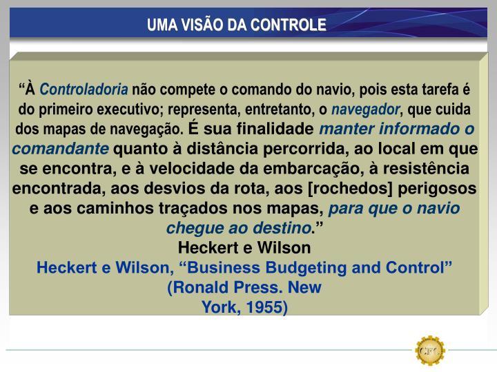 UMA VISÃO DA CONTROLE