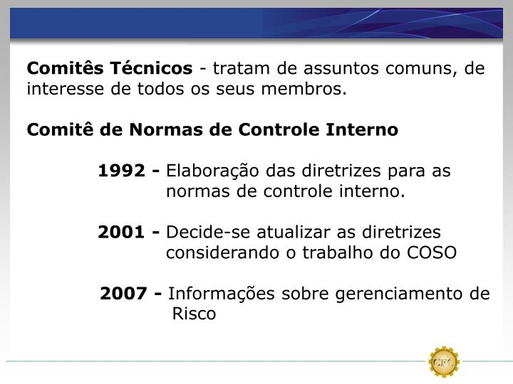 Comitês Técnicos