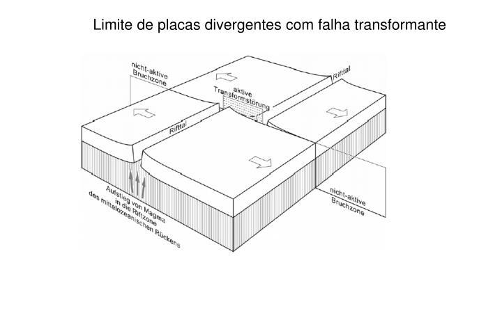 Limite de placas divergentes com falha transformante