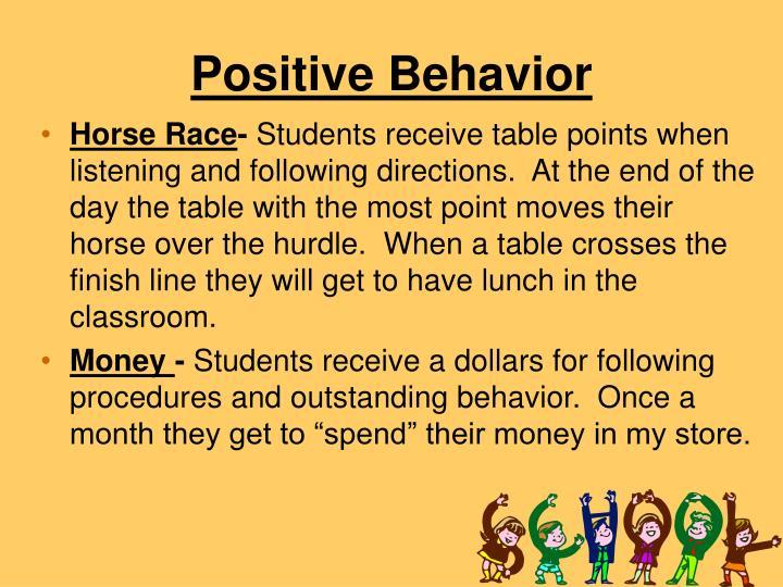 Positive Behavior