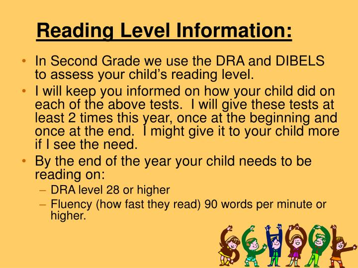 Reading Level Information: