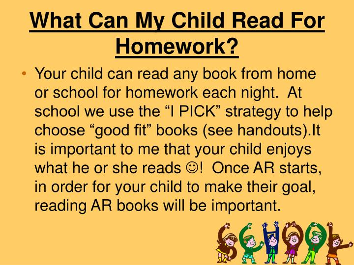 What Can My Child Read For Homework?