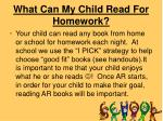 what can my child read for homework