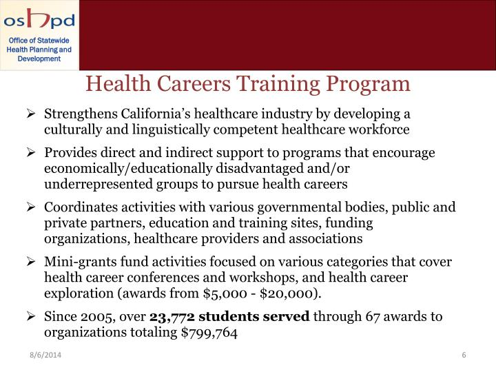 Health Careers Training Program