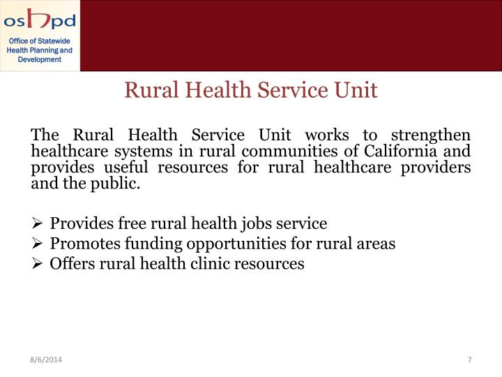 Rural Health Service Unit