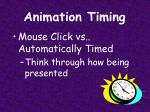 animation timing