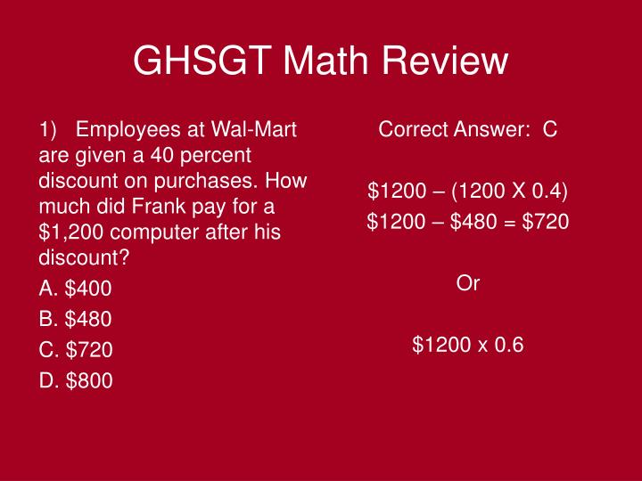 Ghsgt math review1