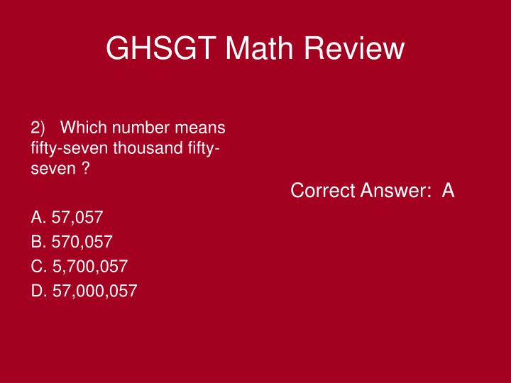 Ghsgt math review2